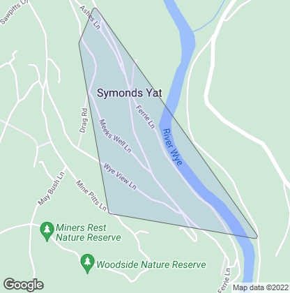 Map of property in Symonds Yat