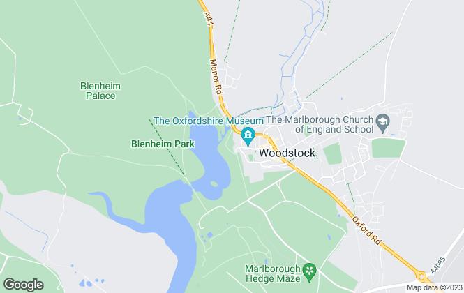 Map for Blenheim Estate Homes, Woodstock