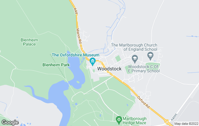 Map for Flowers Estate Agents, Woodstock