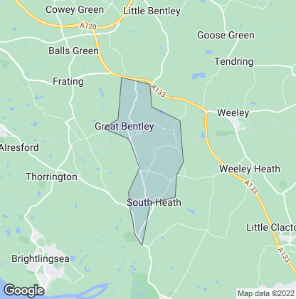 Map of property in Great Bentley