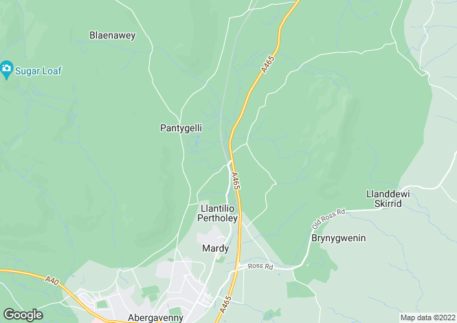 Map for Abergavenny