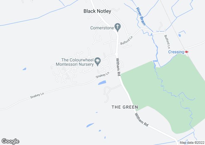 Map for Custerson Drive Black Notley, Braintree