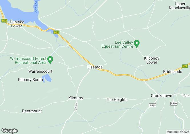 Map for Lissarda, Cork