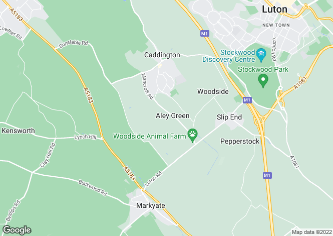 Map for Pipers Lane, Aley Green, Bedfordshire