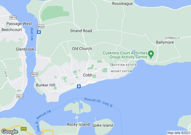 Map for 22 College Avenue, College Manor, Cobh, Cork