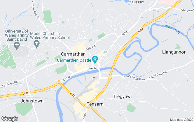 Map for Clee Tompkinson & Francis, Carmarthen