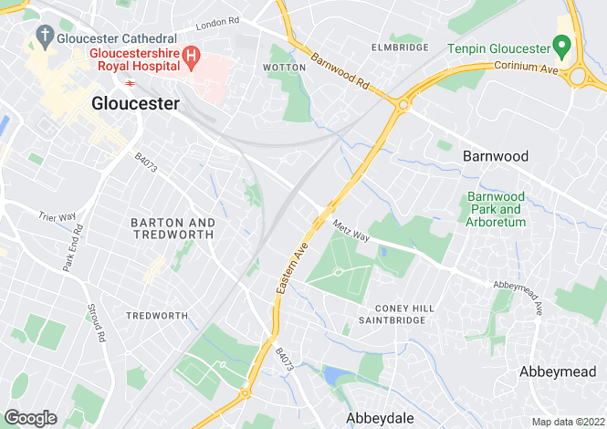 Map for Eastville Close, Eastern Avenue,