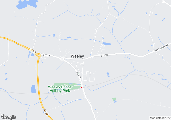 Map for Thorpe Road, Weeley, Essex