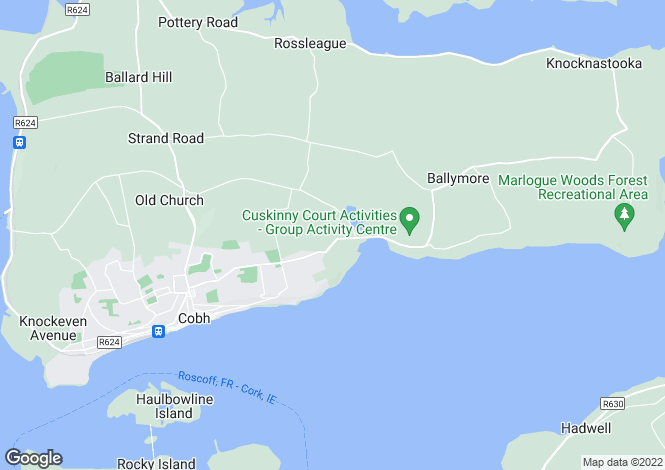 Map for Cuskinny, Cobh, Co Cork