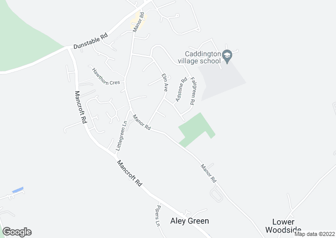 Map for Enslow Close, Caddington, Bedfordshire