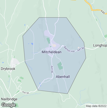 Map of property in Mitcheldean