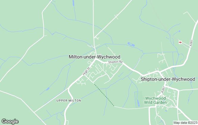 Map for Wychwoods, Milton under Wychwood