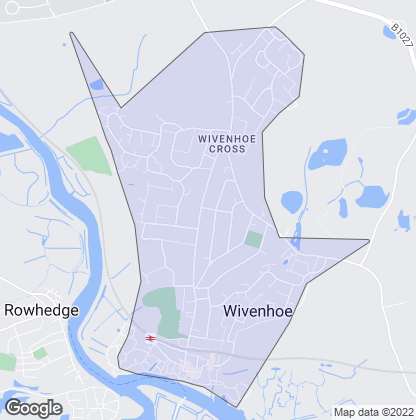 Map of property in Wivenhoe