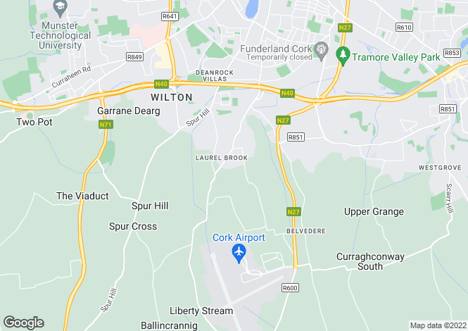 Map for 24 The Gates, Mathew Hill, Lehanaghmore, Cork, T12 A43A