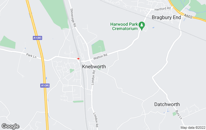 Map for Halcyon House Ltd, Knebworth