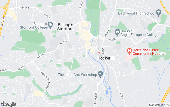 Map for Coke Gearing Consulting, Bishops Stortford