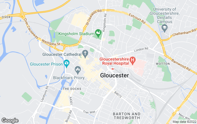 Map for Sure Sales, Gloucester