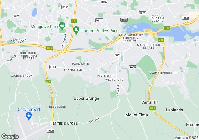 Map for 3 Cedar Avenue, Woodbrook, Bishopstown, Cork, Bishopstown, Cork
