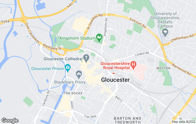 Map for Taylors Lettings, Gloucester