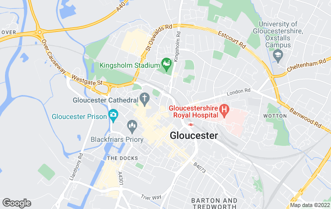 Map for Taylors Estate Agents, Gloucester