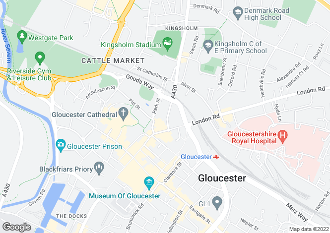 Map for Gloucester