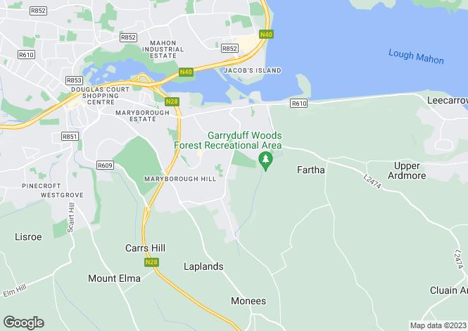 Map for 14 Courtwood, Garryduff, Rochestown, Cork