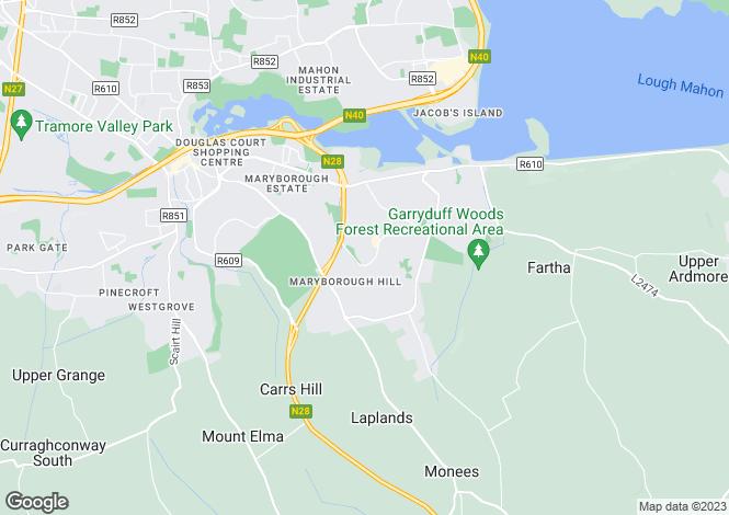 Map for 56 Ardkeale, Mount Oval Village, Rochestown, Cork, T12 TD2Y