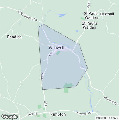 Map of property in Whitwell