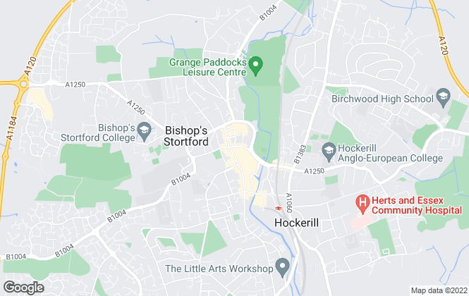 Map for Park Lane Property Agents, Bishops Stortford