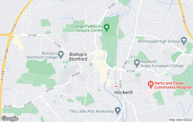 Map for Hunters, Bishops Stortford
