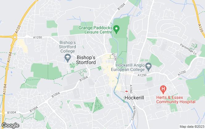 Map for David Lee Estates, Bishop's Stortford Lettings
