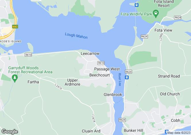 Map for Pembroke Close East, Passage West, Co Cork