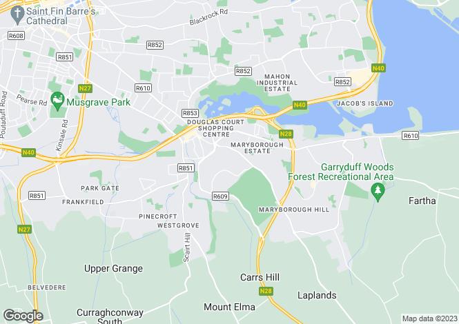 Map for 27 Douglas House, Maryborough Hill, Douglas, Cork, T12 C902