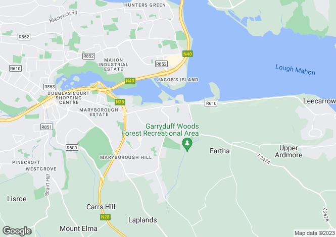 Map for Coach hill, Rochestown, Co Cork