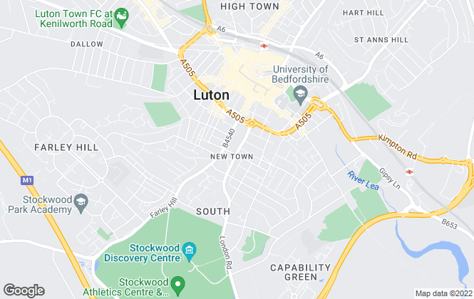 Map for VA Property Consultants, Luton