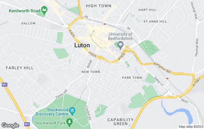 Map for Kirkby Diamond, Luton