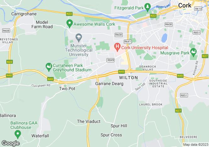 Map for 43 Woodhaven, Bishopstown, Cork, T12 H9AK