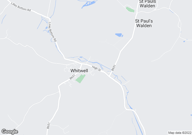 Map for High Street, Whitwell, Hertfordshire