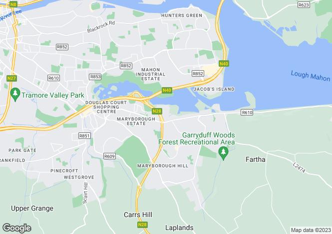 Map for Woodbrook, Rochestown, Cork