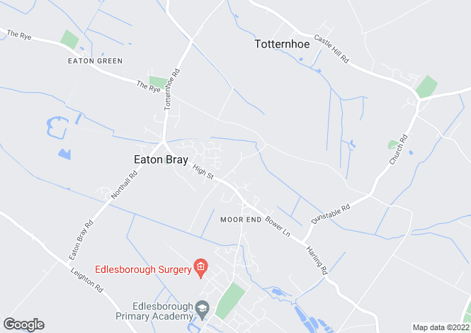 Map for School Lane, Eaton Bray, DUNSTABLE