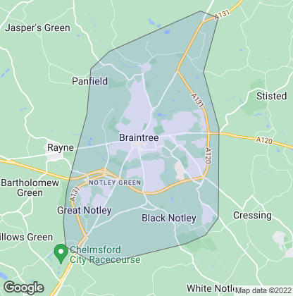 Map of property in Braintree