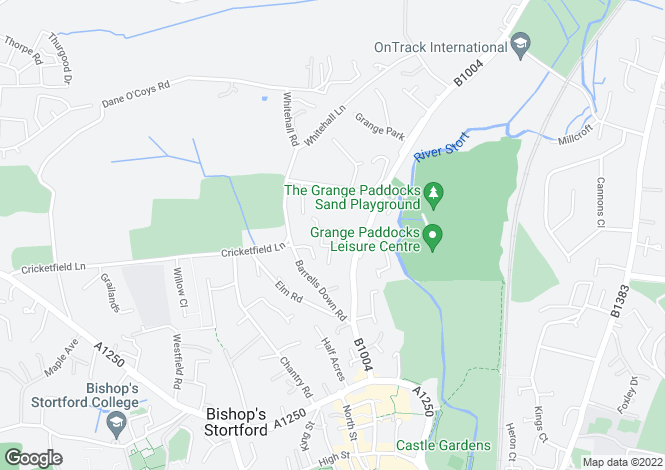 Map for Galloway Road, Bishops Stortford, Herts, CM23 2HS