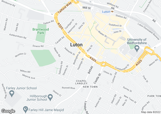 Map for Adelaide Street,