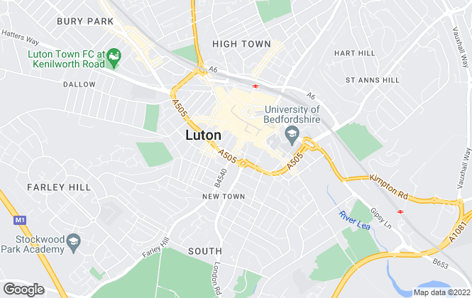 Map for Taylors Lettings, Luton