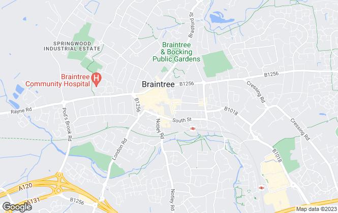 Map for Branocs Estates LTD, Braintree