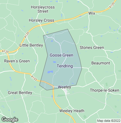 Map of property in Tendring