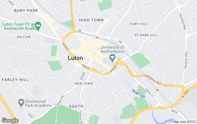 Map for The Property Shop, Luton