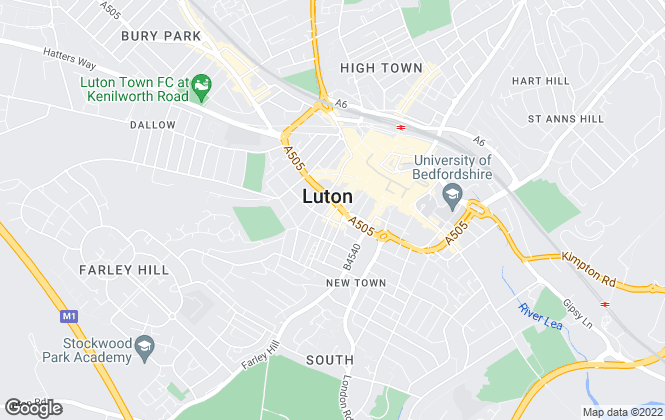 Map for myestate, Luton