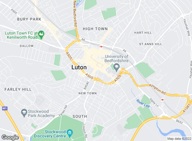 Map for Taylors Estate Agents, Luton