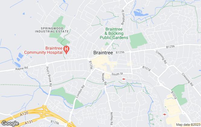 Map for Allen Estates Ltd, Braintree